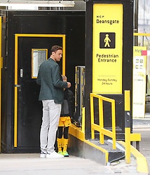 Manchester United's Nemaja Matic makes the most of his day off with a shopping trip to Harvey Nichols and Selfridges in Manchester city centre on Monday afternoon.