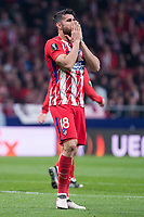 Atletico de Madrid Diego Costa during UEFA Europa League match between Atletico de Madrid and Sporting de Lisboa at Wanda Metropolitano in Madrid, Spain. April 05, 2018. (ALTERPHOTOS/Borja B.Hojas)