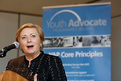 "Repro Free: 23/10/2013 Minister for Children and Youth Affairs, Frances Fitzgerald, T.D. is pictured speaking at the YAP Ireland (Youth Advocate Programme) national citizenship event,  ""I am a Citizen', in Croke Parke, celebrating the Year of the European Citizen. The young people carried out practical and innovative work on what it means to be a Citizen and as always have come up with creative ways that we can all become better Citizens of our community, school, workplace and wider society. Picture Andres Poveda"