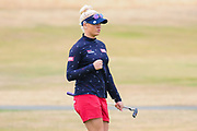 Charley Hull pumps herself up during the Aberdeen Standard Investments Ladies Scottish Open 2018 at Gullane Golf Club, Gullane, Scotland on 28 July 2018. Picture by Kevin Murray.