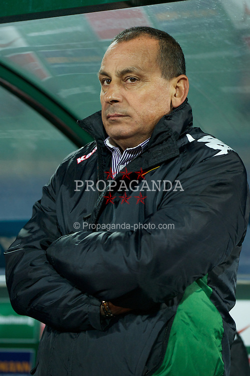 SOFIA, BULGARIA - Tuesday, October 11, 2011: Bulgaria's head coach Michail Madanski during the UEFA Euro 2012 Qualifying Group G match against Wales at the Vasil Levski National Stadium. (Pic by David Rawcliffe/Propaganda)