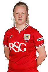 Emma Tustin of Bristol City Women poses for a headshot - Mandatory byline: Rogan Thomson/JMP - 21/02/2016 - FOOTBALL - Stoke Gifford Stadium - Bristol, England - Bristol City Women Team Photos.