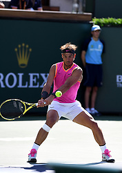 March 15, 2019 - Palm Desert, California, Usa - Tennis : BNP Paribas Open 2019 - Rafael Nadal - Espagne (Credit Image: © Panoramic via ZUMA Press)