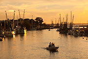 Sunset over the shrimp boats on Shem Creek in Mt Pleasant, SC.