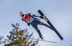 24.02.2019, Bergiselschanze, Innsbruck, AUT, FIS Weltmeisterschaften Ski Nordisch, Seefeld 2019, Skisprung, Herren, Teambewerb, Wertungssprung, im Bild Robert Johansson (NOR) // Robert Johansson of Norway during the competition jump for the men's skijumping Team competition of FIS Nordic Ski World Championships 2019 at the Bergiselschanze in Innsbruck, Austria on 2019/02/24. EXPA Pictures © 2019, PhotoCredit: EXPA/ Stefanie Oberhauser