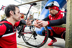 Luka Zele and MUGERLI Matej (SLO) of BMC Amplatz after the UCI Class 1.2 professional race 4th Grand Prix Izola, on February 26, 2017 in Izola / Isola, Slovenia. Photo by Vid Ponikvar / Sportida