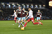Charlton Athletic Forward, Karlan Ahearne-Grant ready to unleash a cross during the Sky Bet Championship match between Burnley and Charlton Athletic at Turf Moor, Burnley, England on 19 December 2015. Photo by Mark Pollitt.