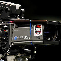 November 28, 2011; New Orleans, LA, USA; A television camera operator  prior to kickoff of a game between the New Orleans Saints and the New York Giants at the Mercedes-Benz Superdome. Mandatory Credit: Derick E. Hingle-US PRESSWIRE