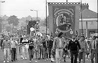 Denby Grange Branch banner. 1990 Yorkshire Miner's Gala. Rotherham.