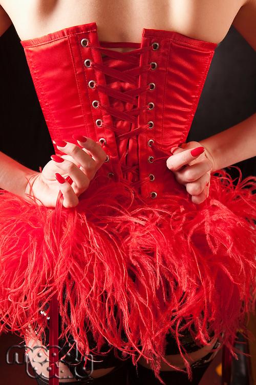 Showgirl tightening corset