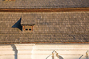 Timber roof tiles of the Refectory (Trapezna) of St. John the Divine in St. Michael's Golden-Domed Monastery. Kiev, Ukraine, 2007