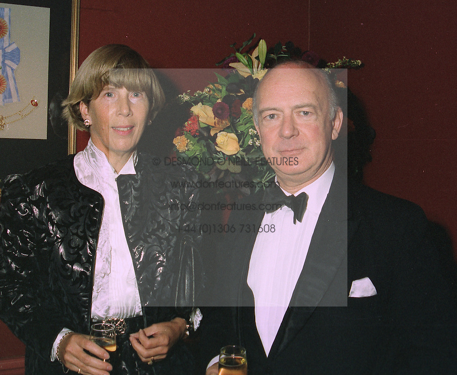 SIR MICHAEL & LADY CRAIG-COOPER at a party in London on October 20th 1997.MCG 4