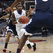 Rashad Ray, Tulsa, in action during the UConn Huskies Vs Tulsa Semi Final game at the American Athletic Conference Men's College Basketball Championships 2015 at the XL Center, Hartford, Connecticut, USA. 14th March 2015. Photo Tim Clayton