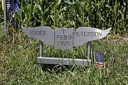 "Buddy Holly, Richie Valens, J.P. ""The Big Bopper"" Richardson and Roger Peterson crash site, Cedar Lake Iowa"