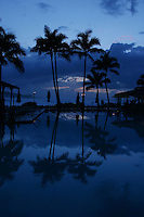 Feb. 17, 2006; Kahuku, Oahu, HI - Palm trees reflect in the pool at the Turtle Bay Resort on the north shore of Oahu...Photo Credit: Darrell Miho.© Darrell Miho