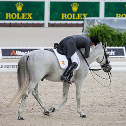 José Antonio Garcia Mena, (ESP), Norte Lovera - Grand Prix Team Competition Dressage - Alltech FEI World Equestrian Games™ 2014 - Normandy, France.<br /> © Hippo Foto Team - Leanjo de Koster<br /> 25/06/14