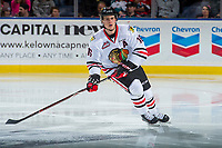 KELOWNA, CANADA - OCTOBER 21: Henri Jokiharju #16 of the Portland Winterhawks skates against the Kelowna Rockets on October 21, 2017 at Prospera Place in Kelowna, British Columbia, Canada.  (Photo by Marissa Baecker/Shoot the Breeze)  *** Local Caption ***