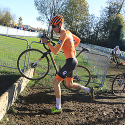 10-11-2019: Wielrennen: Europees Kampioenschap Veldrijden: Silvelle<br />(52) Joost Brinkman, (55) Hugo Kars
