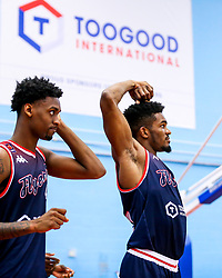 Marcus Delpeche of Bristol Flyers looks frustrated - Rogan/JMP - 05/10/2019 - BASKETBALL - SGS Wise Arena - Bristol, England - Bristol Flyers v Worcester Wolves - BBL Cup.