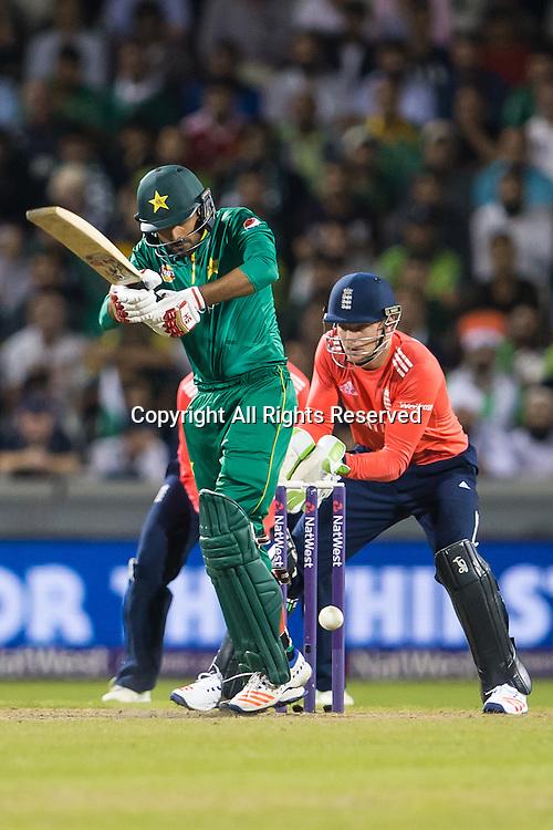 07.09.2016. Old Trafford, Manchester, England. Natwest International T20 Cricket. England Versus Pakistan. Pakistan batsman Babar Azam.