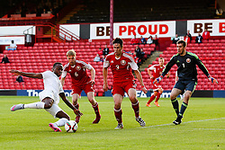 Saido Berahino of England fires a shot towards goal   - Photo mandatory by-line: Matt McNulty/JMP - Mobile: 07966 386802 - 11/06/2015 - SPORT - Football - Barnsley - Oakwell Stadium - England U21 v Belarus U21 - International Friendly U21s