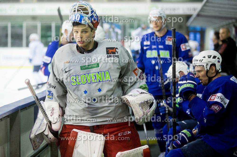 Luka Gracnar during practice session of Slovenian National Ice Hockey Team prior to the IIHF World Championship in Ostrava (CZE), on April 21, 2015 in Hala Tivoli, Ljubljana, Slovenia. Photo by Vid Ponikvar / Sportida