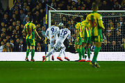 Pablo Hernandez of Leeds United (19) scores a goal to make the score 1-0 during the EFL Sky Bet Championship match between Leeds United and West Bromwich Albion at Elland Road, Leeds, England on 1 March 2019.