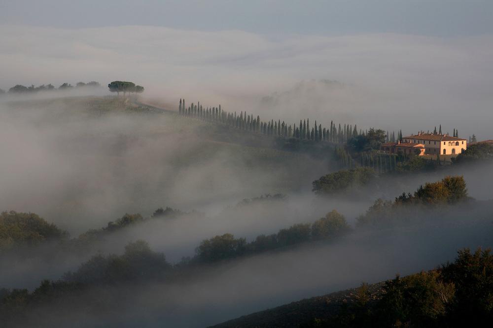 VAL D'ORCIA. LA TOSCANA. ITALIA.