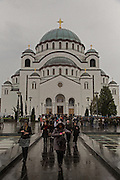 Sv Sava.<br /> <br /> Joint liturgy with Serbian Orthodox and Russian Orthodox patriarchs in Sveti Sava cathedral. Belgrade, Serbia.