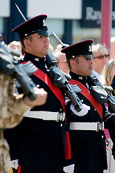 LEFT Leon Egbury Freedom Parade 3rd Battalion The Yorkshire Regiment Barnsley South Yorkshire  22 June 2010 .Images © Paul David Drabble.