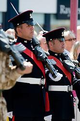 LEFT Leon Egbury Freedom Parade 3rd Battalion The Yorkshire Regiment Barnsley South Yorkshire  22 June 2010 .Images © Paul David Drabble.
