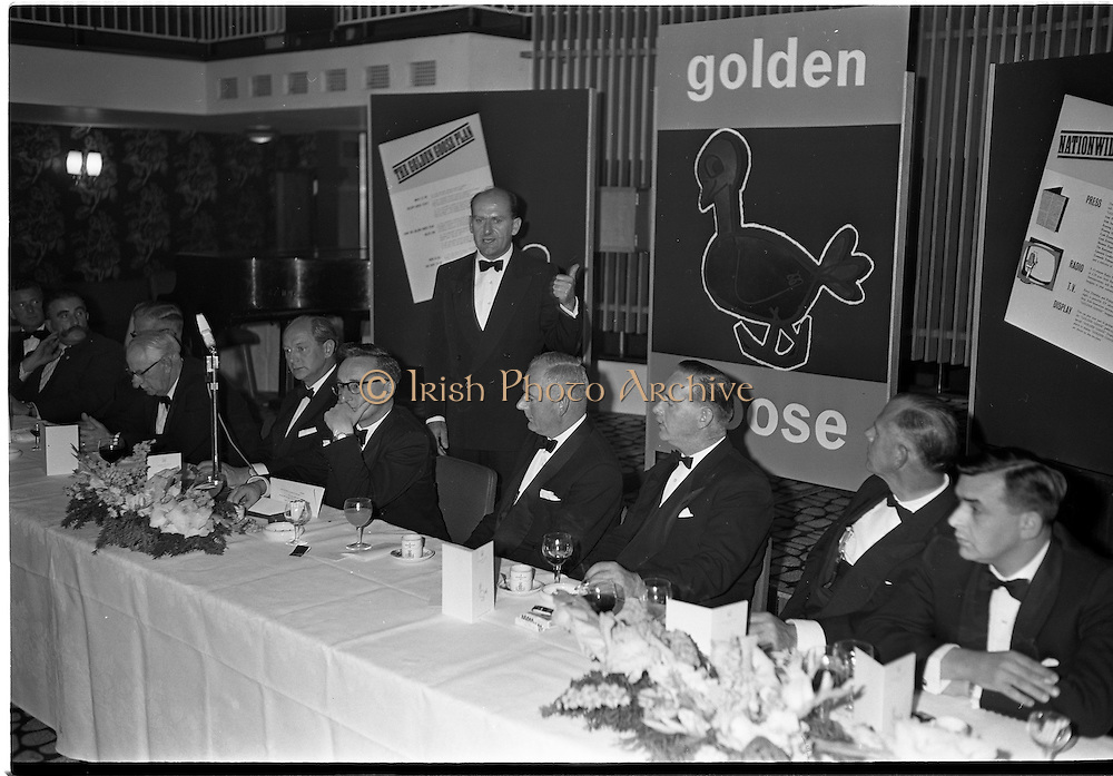 20/08/1962<br /> 08/20/1962<br /> 20 August 1962 <br /> Efficient Distribution Ltd. Dinner at Shelbourne Hotel, Dublin.  Image shows Mr John K. Clear speaking at the event.