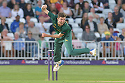 Harry Gurney during the NatWest T20 Blast Quarter Final match between Notts Outlaws and Somerset County Cricket Club at Trent Bridge, West Bridgford, United Kingdom on 24 August 2017. Photo by Simon Trafford.