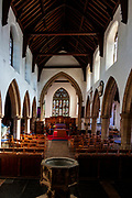 Interior of church of Saint Mary, Halesworth, Suffolk, England, UK