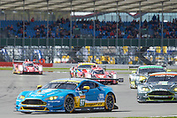 Richie Stanaway (NZL) / Fernando Rees (BRA) / Jonathan Adam (GBR) #97 Aston Martin Racing Aston Martin Vantage, during opening laps of the race as part of the WEC 6 Hours of Silverstone 2016 at Silverstone, Towcester, Northamptonshire, United Kingdom. April 17 2016. World Copyright Peter Taylor.