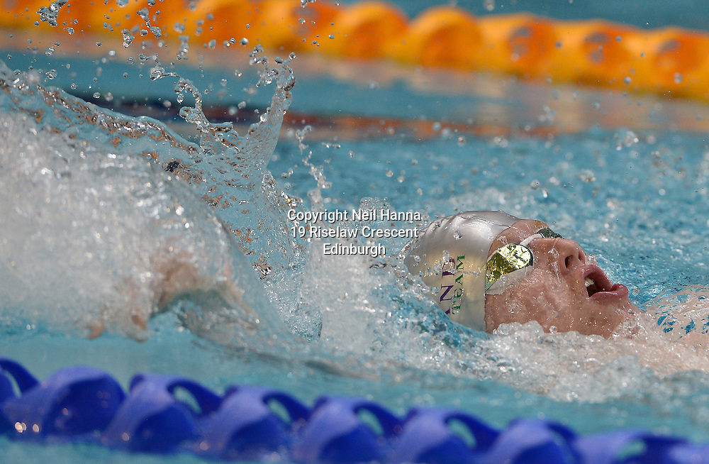 British Para-Swimming International Meet 2016, Tollcross Swimming Centre, Glasgow.<br /> <br /> Event 202 Mens MC 100m Backstroke <br /> <br /> Adam Scott<br /> <br />  Neil Hanna Photography<br /> www.neilhannaphotography.co.uk<br /> 07702 246823