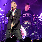 WASHINGTON, DC - November 30th, 2017 - Morrissey performs at The Anthem in Washington, D.C. with drummer Matt Walker. (Photo by Kyle Gustafson / For The Washington Post)