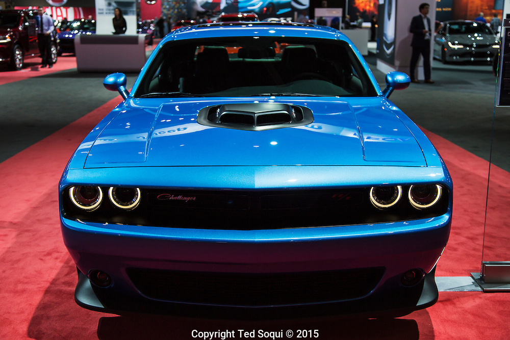 Dodge Challenger.<br /> The 2015 Los Angeles Auto Show at the LA Convention Center.