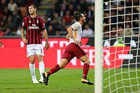 01.10.2017 - Milano  Serie A 7a   giornata  -  Milan-Roma  nella  foto: Alessandro Florenzi esulta dopo il gol del 2 a 0