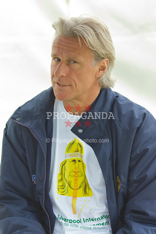 Liverpool, England - Friday, June 15, 2007: Bjorn Borg day four of the Liverpool International Tennis Tournament at Calderstones Park. For more information visit www.liverpooltennis.co.uk. (Pic by David Rawcliffe/Propaganda)