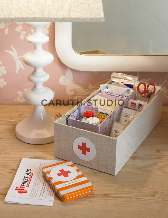 Organized first aid kit
