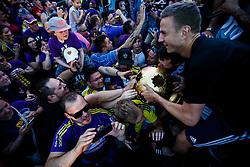 Ales Mertl of NK Maribor celebrate with fans after NK Maribor became Slovenian National Champion 2017 after football  match between NK Maribor and NK Krskor in Round #36 of Prva liga Telekom Slovenije 2016/17, on May 27th, 2017 in Ljudski Vrt, Maribor, Slovenia. Photo by Grega Valancic / Sportida