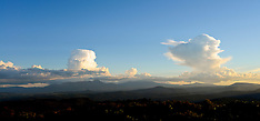 Taupo-Weather clouds over the central plateau