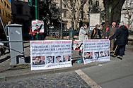 Roma 5 Marzo 2014<br /> Manifestazione per chiedere la liberazione di Bahar Kimyong&uuml;r, giornalista belga di origine turca, attivista per i diritti umani, invitato in Italia per alcune conferenze sui diritti umani in Turchia, e  arrestato il 21 novembre su  mandato di arresto internazionale e di una richiesta di estradizione del governo turco. Ora agli arresti domiciliari.<br /> Rome, March 5, 2014 <br /> Demonstration for calling for the release of Bahar Kimyong&uuml;r, Belgian journalist of Turkish origin, an activist for human rights, invited to Italy for a number of conferences on human rights in Turkey, and arrested November 21 2013 on international arrest warrant and an extradition request from the turkish government. Now under house arrest.
