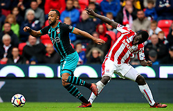 Nathan Redmond of Southampton takes on Mame Biram Diouf of Stoke City - Mandatory by-line: Matt McNulty/JMP - 30/09/2017 - FOOTBALL - Bet365 Stadium - Stoke-on-Trent, England - Stoke City v Southampton - Premier League