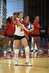 19 AUG 2006  Peggy Riessen serves the ball..Game action took place at Redbird Arena on the campus of Illinois State University in Normal Illinois.
