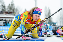March 16, 2019 - –Stersund, Sweden - 190316 Hanna Öberg of Sweden competes in the Women's 4x6 km Relay during the IBU World Championships Biathlon on March 16, 2019 in Östersund..Photo: Petter Arvidson / BILDBYRÃ…N / kod PA / 92268 (Credit Image: © Petter Arvidson/Bildbyran via ZUMA Press)