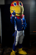 DALLAS, TX - JULY 22:  Kansas mascot Big Jay poses for a portrait during the Big 12 Media Day on July 22, 2014 at the Omni Hotel in Dallas, Texas.  (Photo by Cooper Neill/Getty Images) *** Local Caption *** Big Jay