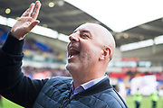 Bolton Wanderers manager Keith Hill salutes the fans before the  EFL Sky Bet League 1 match between Bolton Wanderers and Rochdale at the University of  Bolton Stadium, Bolton, England on 19 October 2019.