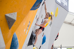 Lana Skusek (SLO) at Semifinal of Climbing event - Triglav the Rock Ljubljana 2018, on May 19, 2018 in Congress Square, Ljubljana, Slovenia. Photo by Urban Urbanc / Sportida